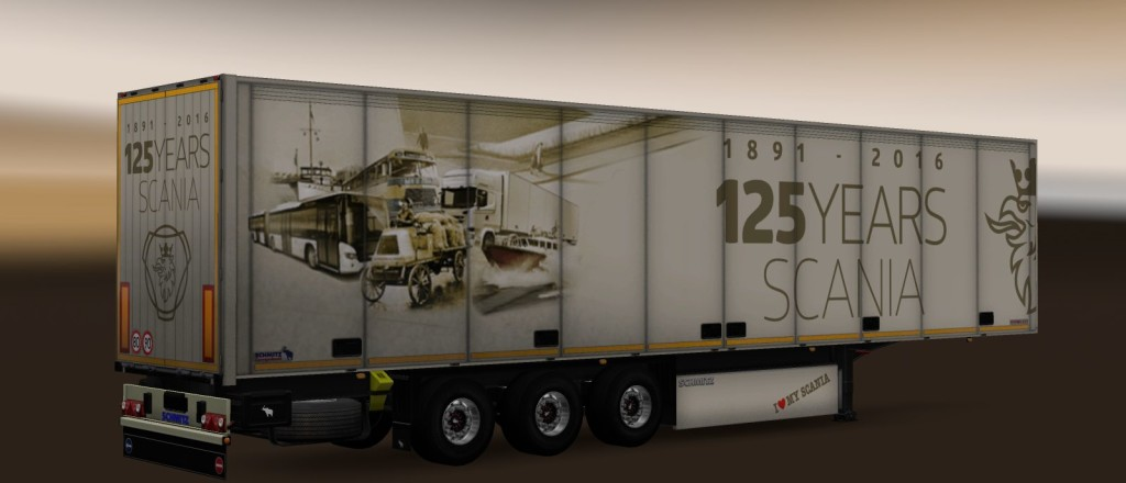 Trailer pack Scania 125 years