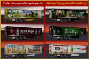 Trailer Schwarzmuller 6pack plachta