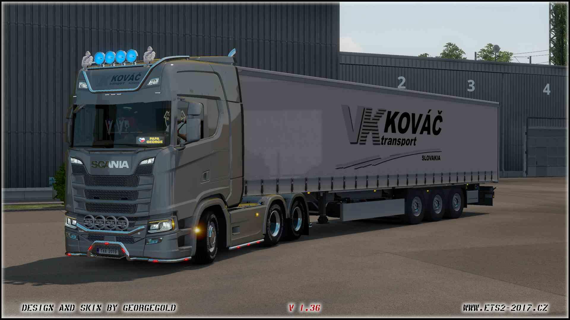Combo Scania S NG Kováč Transport