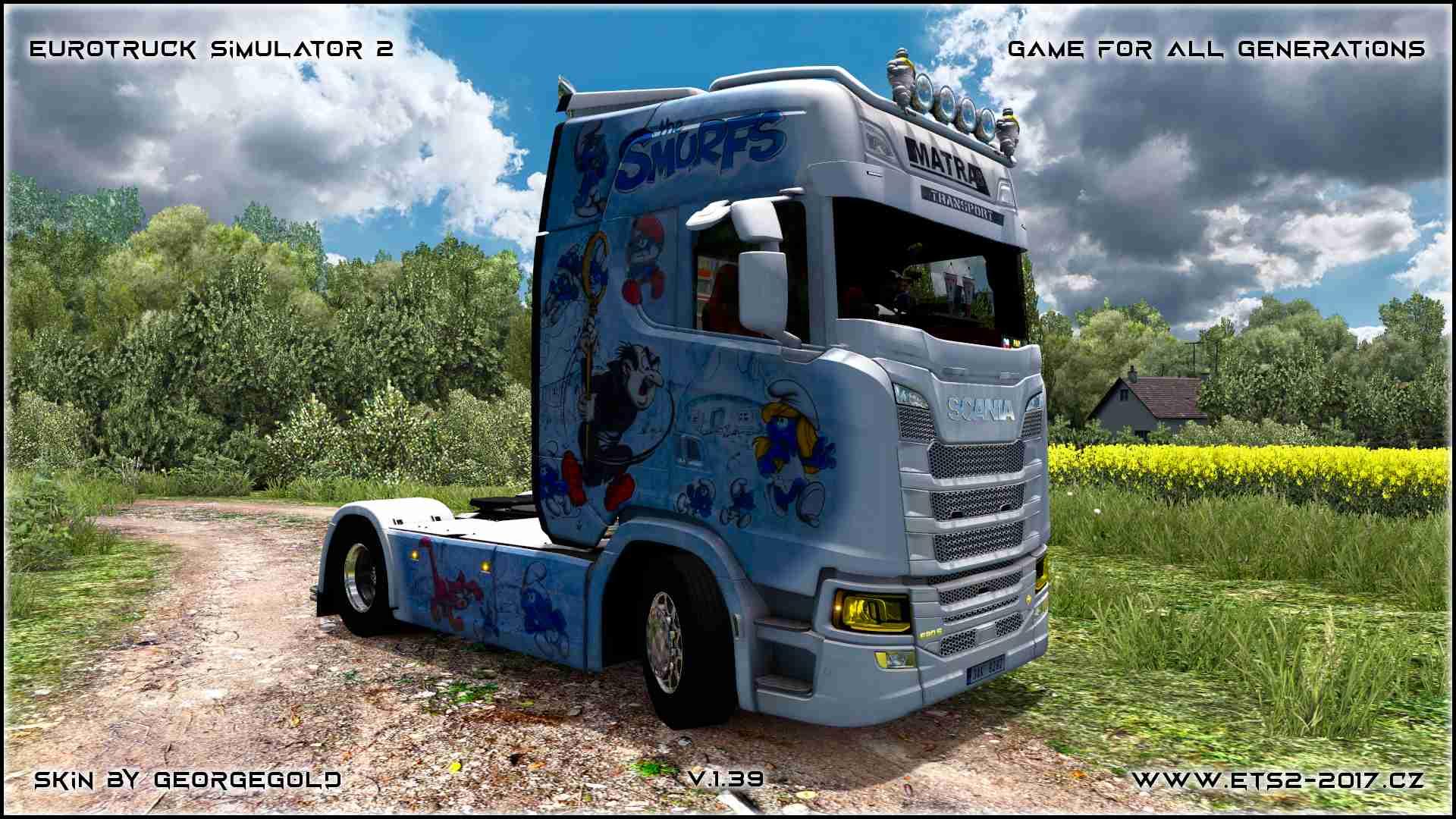 Scania NG S Matras Smurfs