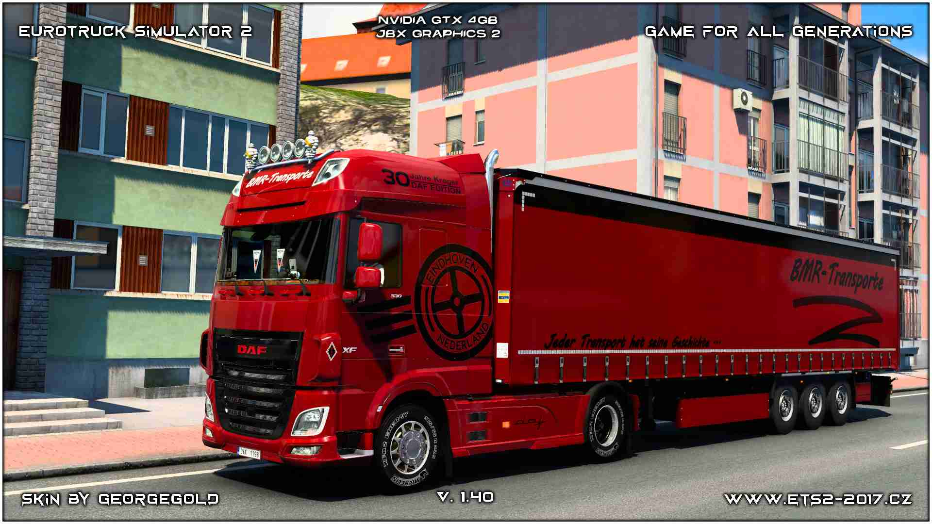 Combo DAF Euro 6 BMR Red