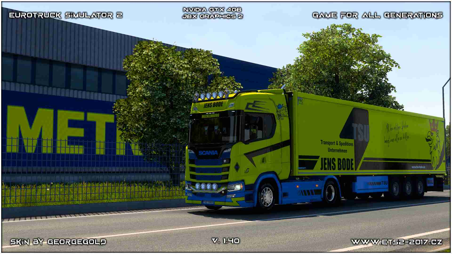 Combo Scania S NG Jens Bode Yellow