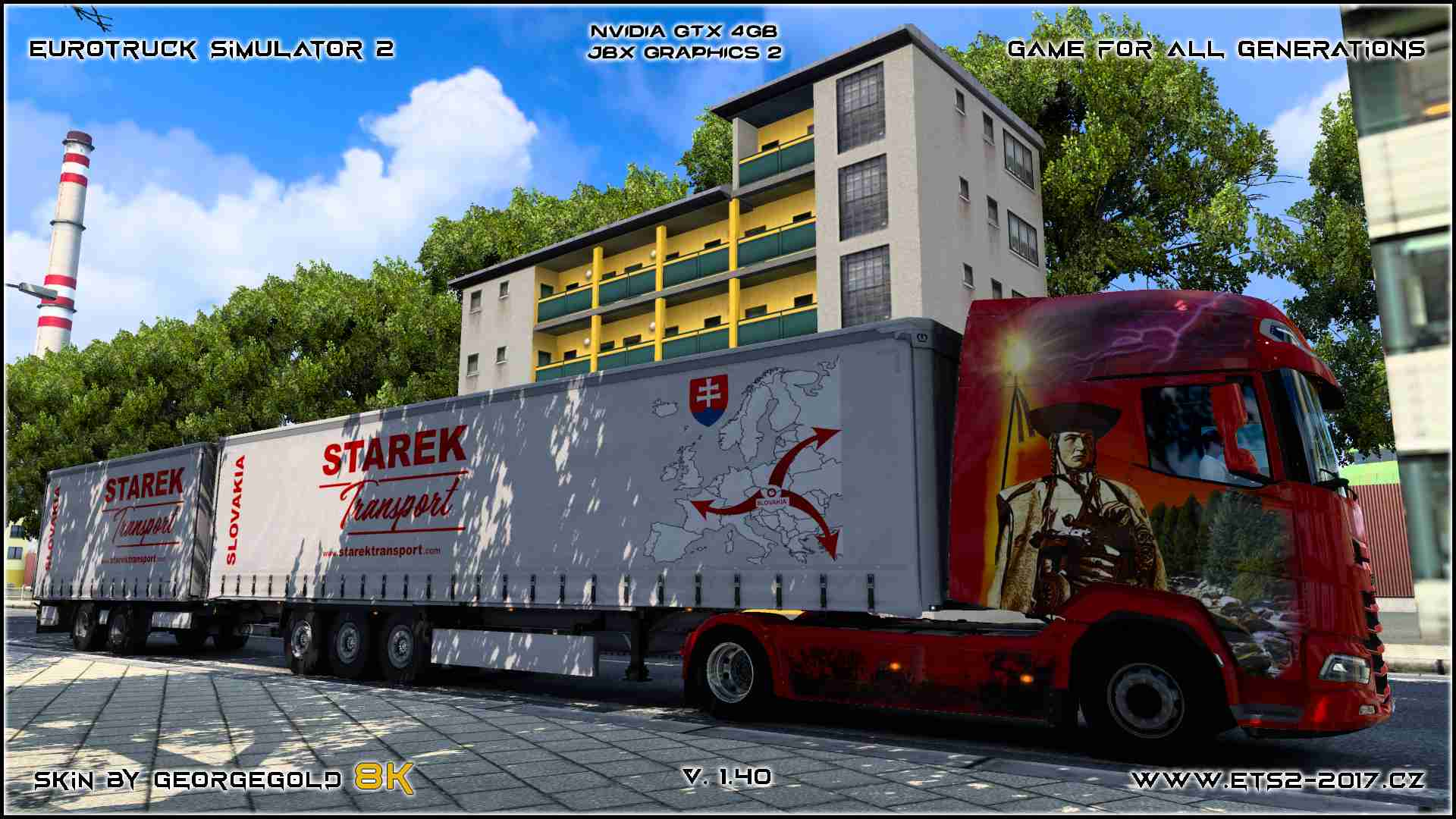 Combo DAF XG + Starek Transport