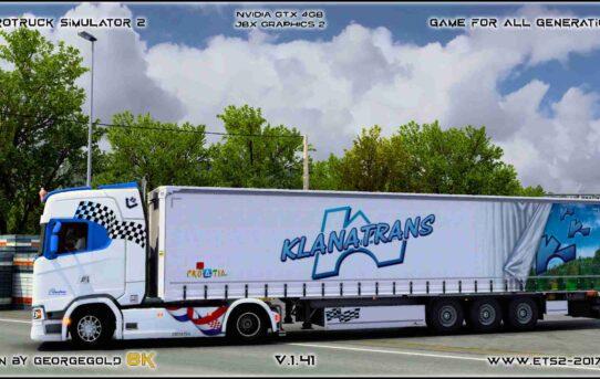 Combo Scania S NG Klanatrans Blue