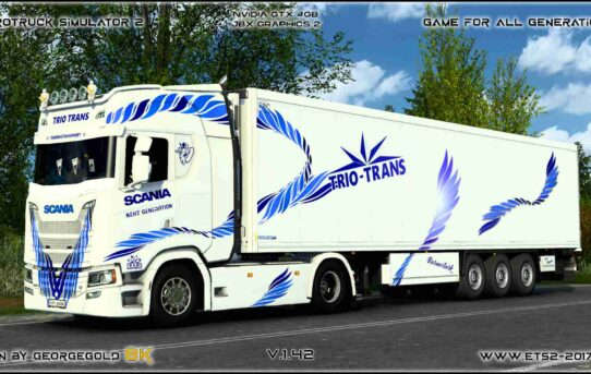 Combo Scania S NG Trio Trans Blue