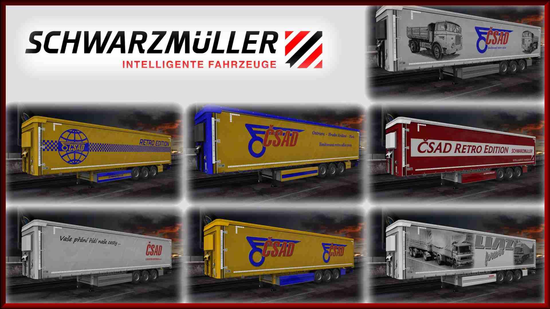 Trailer Schwarzmuller Owned ČSAD Retro pack
