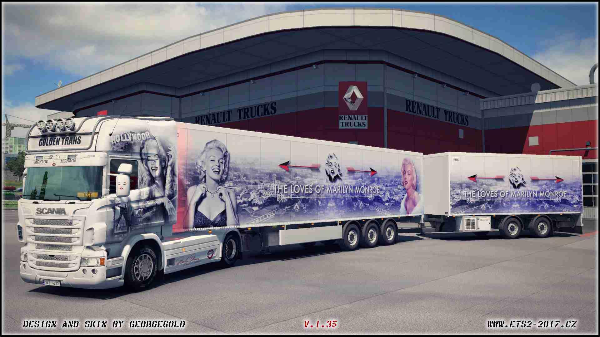 Combo Scania RJL Marilyn Monroe