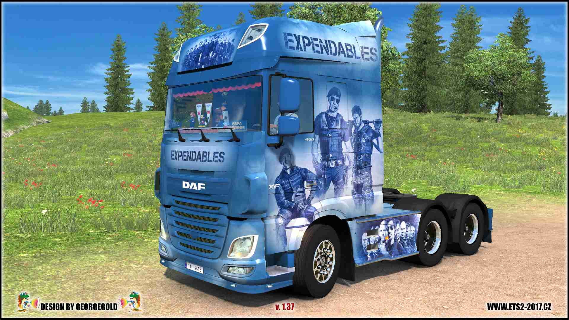 DAF XF Euro 6 Expendables