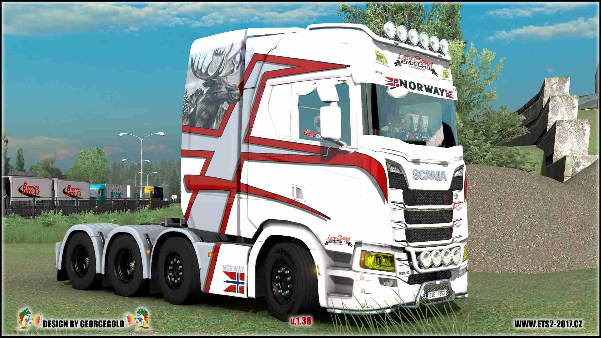Scania S NG 8x4 Leiv Sand
