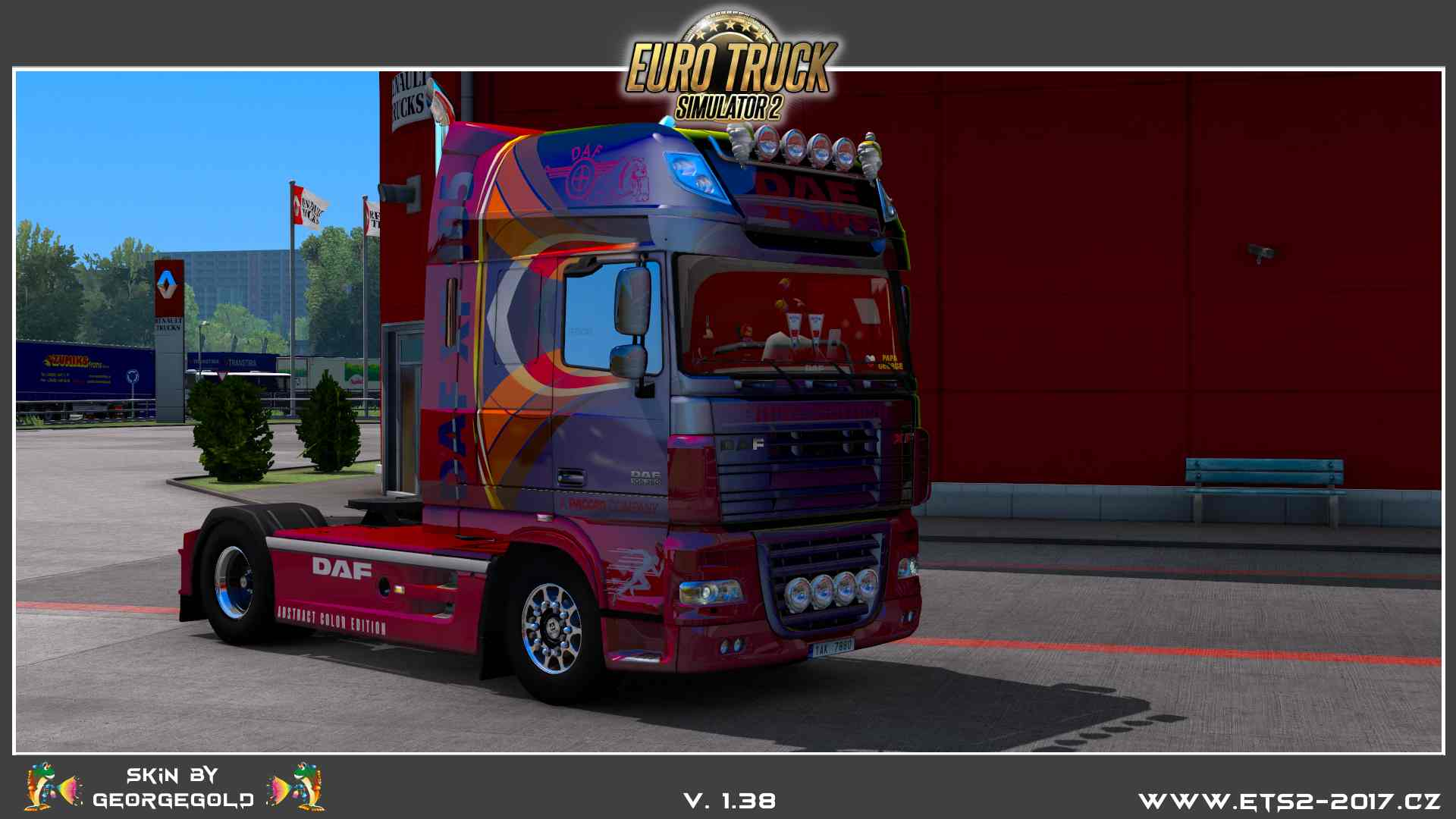 DAF XF 105 Abstract Color Edition