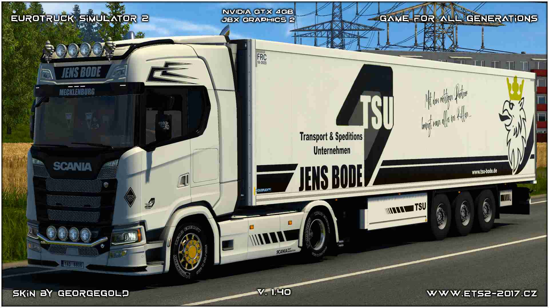 Combo Scania S NG Jens Bode White