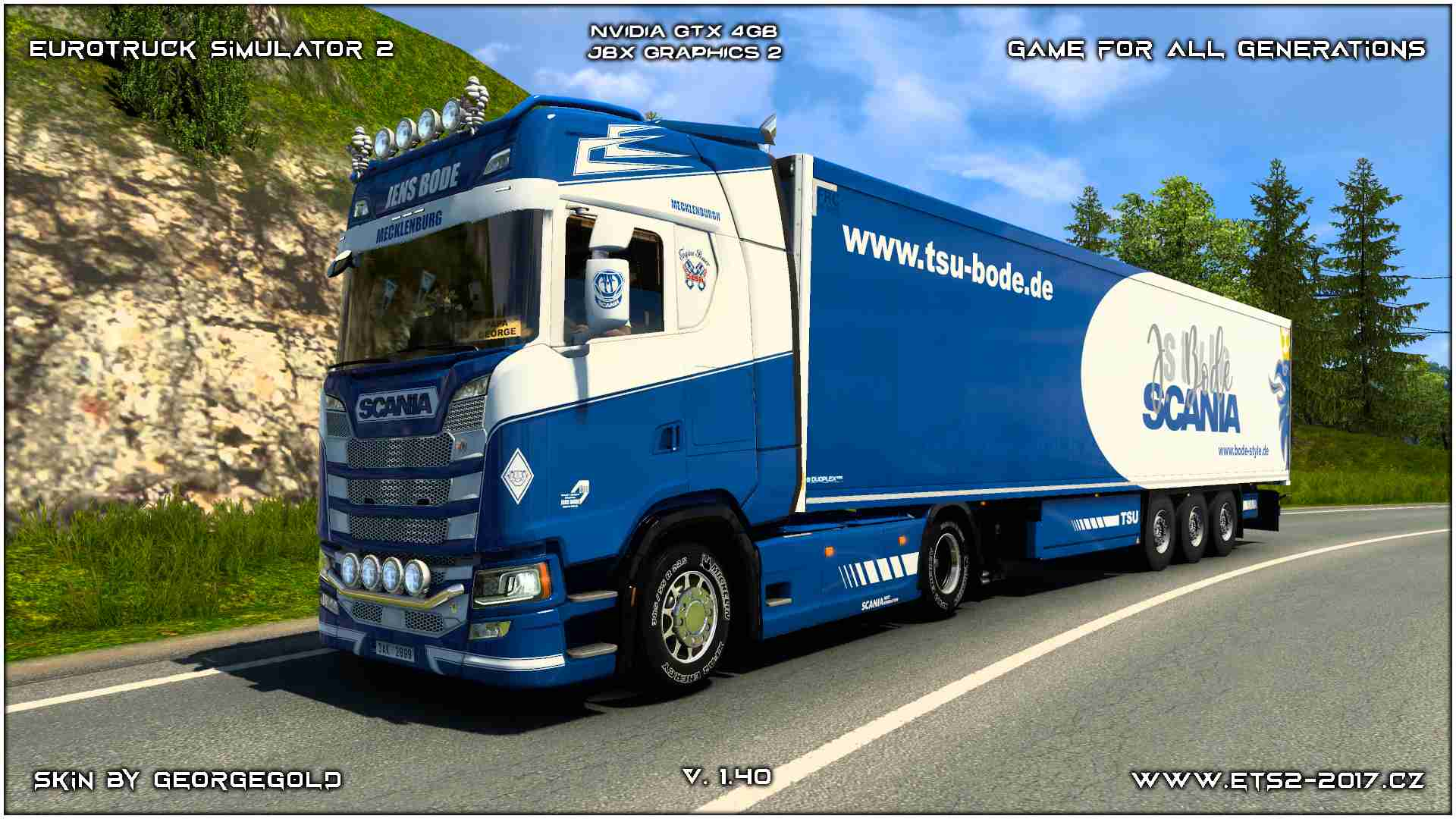Combo Scania S NG Jens Bode Blue
