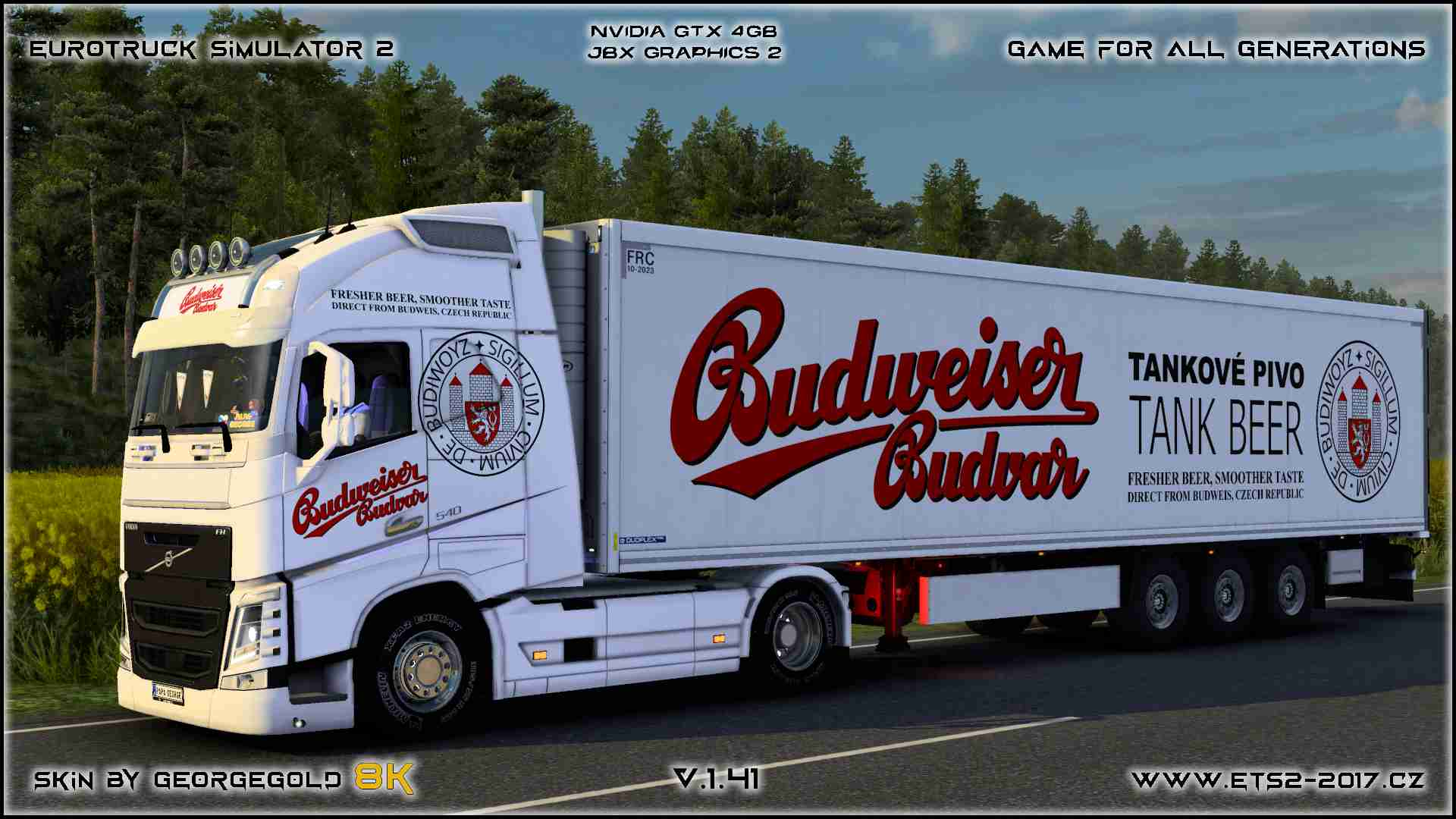 Combo Volvo FH 2012 Budweiser Budvar
