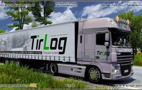 Combo DAF XF 105 TirLog Transport
