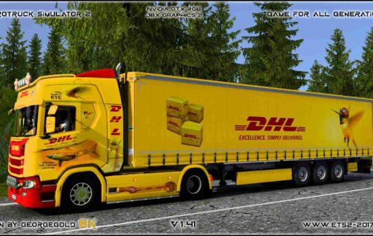 Combo Scania R NG DHL 1+3