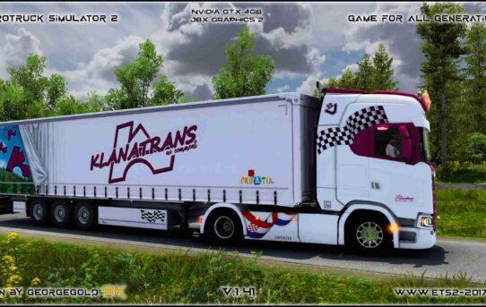 Combo Scania S NG Klanatrans Pink