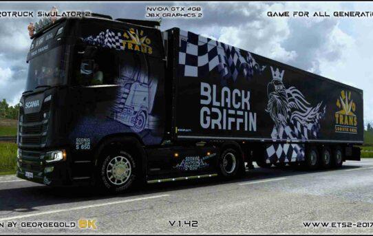 Combo Scania S NG Trio Trans Black